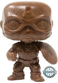 Купить <b>Фигурка Funko POP</b> Marvel - <b>Captain</b> America Wooden (584 ...