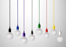 e27 pendant lamp bare bulb lighting