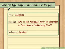 ways to write a thesis statement  wikihow