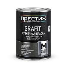 <b>Краска кузнечная Престиж</b>, с эффектом <b>Grafit</b>, чёрная, 0,9 кг ...