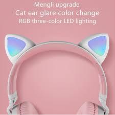 <b>BK1</b> Cat Ear <b>Headphones Bluetooth Headphone</b> 5.0 Bilateral Stereo ...