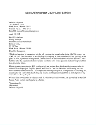 Cover Letter Sample For Sales Denial Letter Sample Cover Letter Sample For Sales Sales Administrator