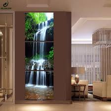 Pictures <b>Canvas</b> Poster Triptych <b>Vertical</b> Waterfall Modular Pictures ...
