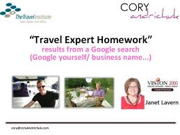 Slideshare Coaching Session   The Travel Institute  CTC    The Marke
