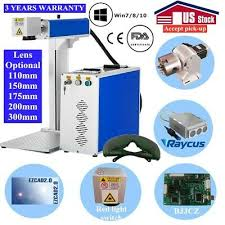 US Stock 30W Split Fiber Laser Marking Machine Engraver with ...