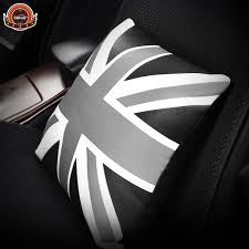 Creative <b>British Style Car Seat</b> Support M Flag Leather Car Pillow ...