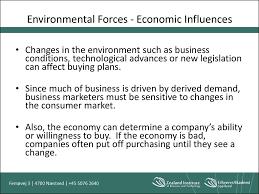 organizatorial buying behavior  environmental forces economic influences