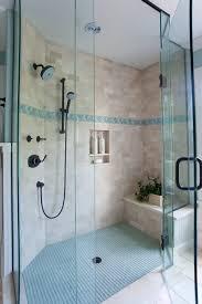 coastal bathroom designs: beachcoastal bathroom shower like the idea of the built in seat incase you