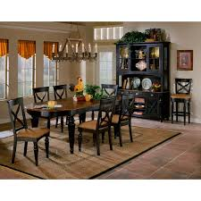 Two Toned Dining Room Sets Paula Deen Home 5 Piece Round Pedestal Dining Table Set Tobacco