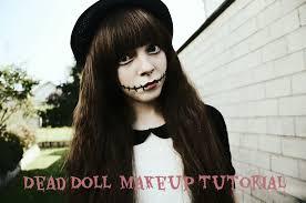 easy dead doll make up tutorial laura rainicorn