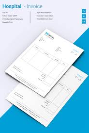 invoice word excel pdf psd format beautiful hospital invoice template
