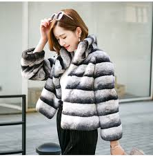 2019 hot sale <b>women real</b> natural rex rabbit fur coat high quality <b>100</b> ...