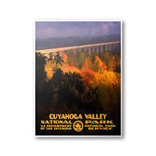 ohio postcard cuyahoga valley national park travel poster