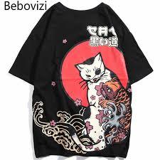 <b>Bebovizi</b> Harajuku Hip Hop Men Snake Ghost T Shirt Japan ...