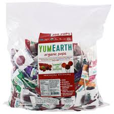 YumEarth, <b>Organic Pops</b>, <b>Assorted Fruits</b> Flavor, 300 Pops, 80 oz ...
