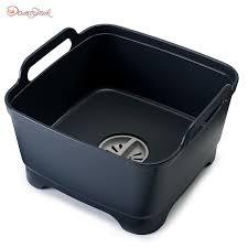 <b>Контейнер для мытья посуды</b> Wash&Drain™ серый - Щетки и ...
