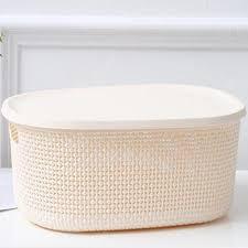 XIMIVOGUE Fashion Faux Rattan Storage Box Sale, Price ...