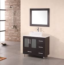 bathroom vessel vanity cabinets sink stanton quotquot modern bathroom vanity vessel sink