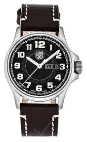 <b>LUMINOX</b> AUTO Day Date 43MM S-Steel BRN Leather Men's <b>Watch</b> ...
