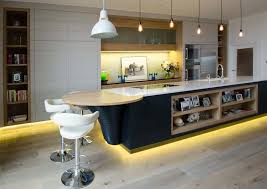 modern awesome design of the kitchen leds lights that has wooden floor can be decor with awesome modern kitchen lighting ideas white