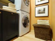 small laundry room storage ideas chic laundry room