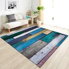 <b>Nordic Wood Grain</b> Printing <b>3D</b> Carpet Soft Flannel Sofa Bedroom ...