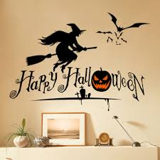 Happy <b>Halloween</b> Witch Wall Stickers DIY <b>Home Decor</b> Decals ...