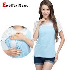 <b>Emotion Moms summer</b> Short sleeve Maternity Nursing Clothes ...