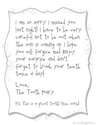 Over The Big Moon Forgettful tooth fairy free printable note
