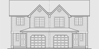 Standard House Plans  Traditional Room Sizes and ShapesD  Mirrored duplex house plans  story duplex house plans  bedroom