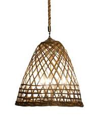 bamboo basket hanging light woven bamboo pendant light with rope chain measures 25 bamboo pendant lighting
