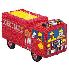 Firefighter Cupcake Decorations Fire Engine Pinata Fire Truck Party Supplies Party Games