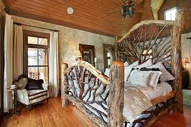Rustic Cabin Bedroom Decorating Outstanding Rustic Bedding Ideas With Furniture And Fittings