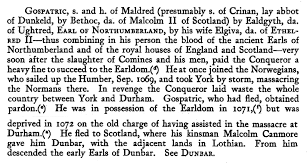 f a descent from king aethelred ii of england ca  england margaret s grandfather was eventually received in scotland and granted dunbar and extensive estates in lothian which had originally formed
