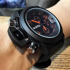 <b>MEGIR Men</b> Creative Fashion Analog Quartz Wristwatches Silicone ...
