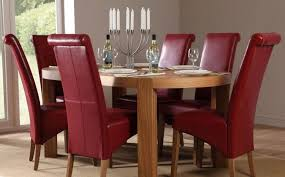 dining table parson chairs interior:  modern dining table and chair with  parsons chairs made of red leather and oval