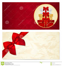 voucher gift certificate coupon boxes bow royalty stock gift certificate voucher coupon template bow stock photo