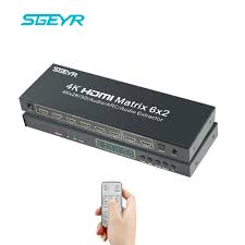 <b>SGEYR</b> HDMI Matrix Full HD 4Kx2K 3D 1080p <b>HDMI Switch</b> Splitter ...
