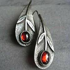<b>Vintage Ethnic Flower</b> Oil Drop Dangle <b>Earrings</b> - Fish-<b>Jewelry</b>