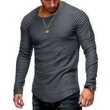 Men's Clothing - <b>2018 New Fashion Men's</b> Striped Fold Raglan ...
