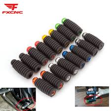 <b>2pcs CNC Universal</b> Motorcycle Racing Bike Footrests Rubber+ ...
