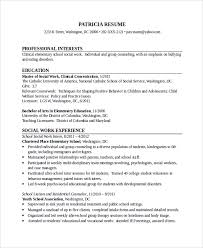elementary social worker resume social worker resume template