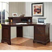 office desk wood espresso polished mahogany wood home office computer desk with drawers and hutch attached ak1340 designer office desk