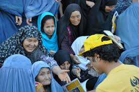 latest news bayat foundation part  ramadan food drive in kabul s char qala e card area