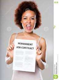 permanent job contract is not for everyone stock photo image permanent job contract is not for everyone