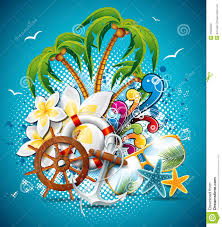 vector summer holiday flyer design coconut and paradise vector summer holiday flyer design stock photos