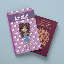 ClaireaBella <b>Unicorn</b> Emoji <b>Passport</b> Cover – Toxic Fox