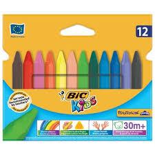 "<b>Мелки</b> пластиковые <b>утолщенные BIC</b> ""Plastidecor"", 12 цветов ..."