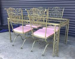 piece iron patio set lattice pattern