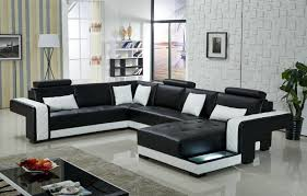 sofa set living room furniture modern sectional leather sofa and couches for living room black black modern living room furniture